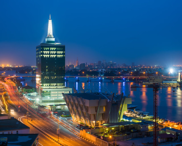 The King And Queen Of Ozumba: Civic Center and tower, Lagos